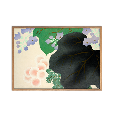 Flowers and leaves from Momoyogusa Plakat