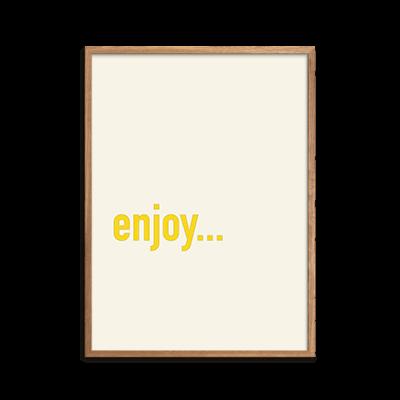 Enjoy Plakat