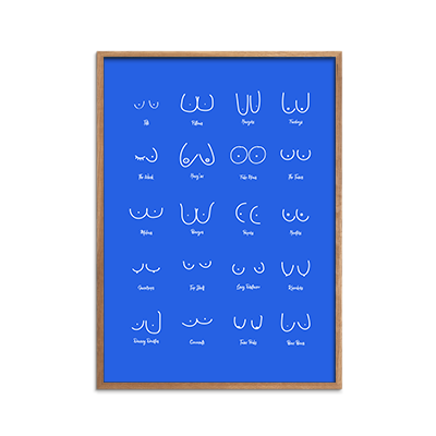 bOObs blue negative Plakat