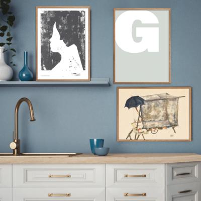 Letter G Plakatvæg