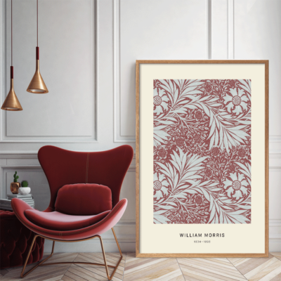 William Morris, blomster,