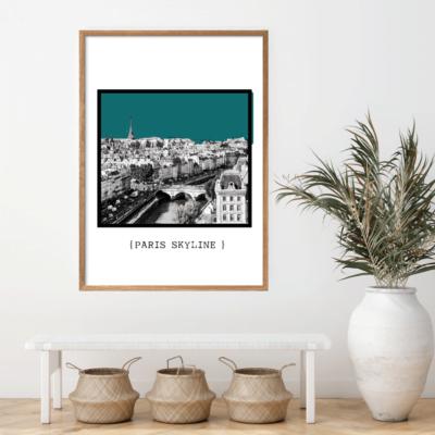 Paris Skyline Petrolium