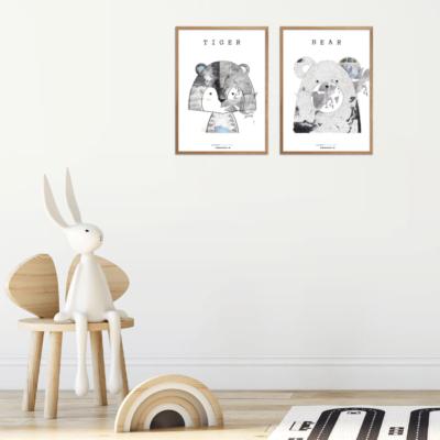 Mr. & Miss Plakater til børn