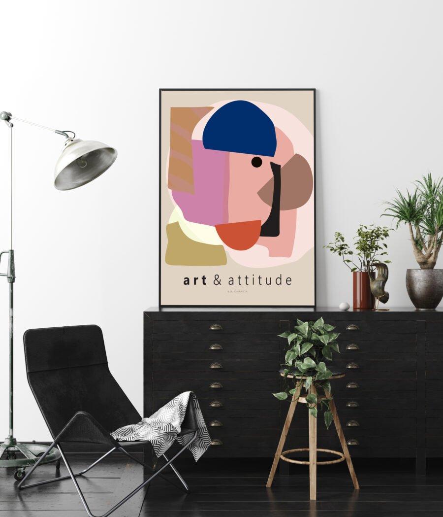 Art and attitude Plakat