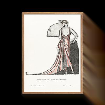 Une robe du soir de Worth Plakat