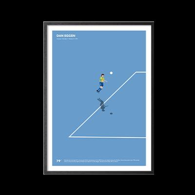 Fodboldplakat med Dan Eggen