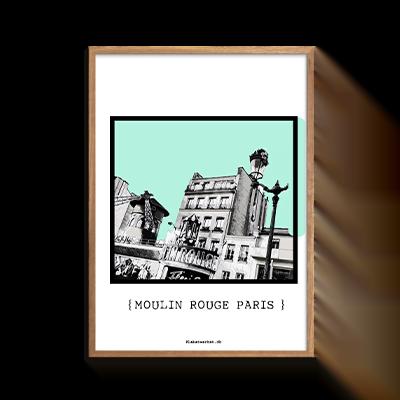 Paris Moulin Rouge Grey