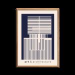 Art and Architecture blå plakat
