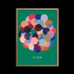Atom plakat grøn