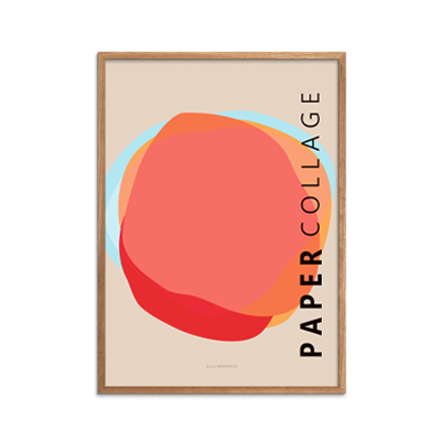 Papercollage 6 Plakat