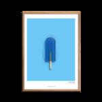 Plakat med blå is