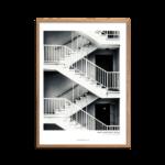 Sorthvid trappe-plakat