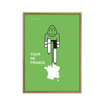 Tour de France - Green Jersey Point Plakat