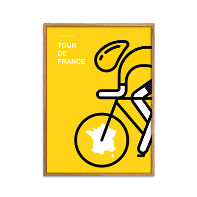 Tour de France Yellow Jersey plakat