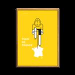 Le Tour Yellow Jersey Plakat