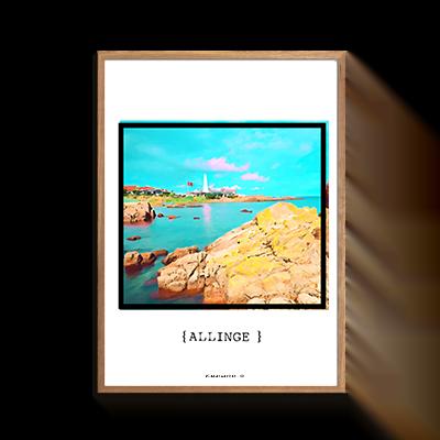 Allinge Strand Plakat