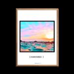 Hornbæk Solnedgang Plakat