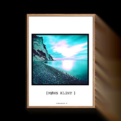 Møns Klint Solnedgang Plakat