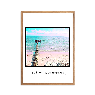 Råbylille Strand Dige Plakat