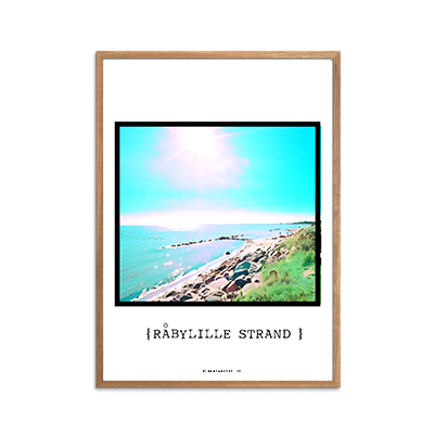 Råbylille Strand Plakat