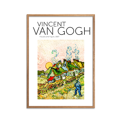 Houses and Figure Plakat