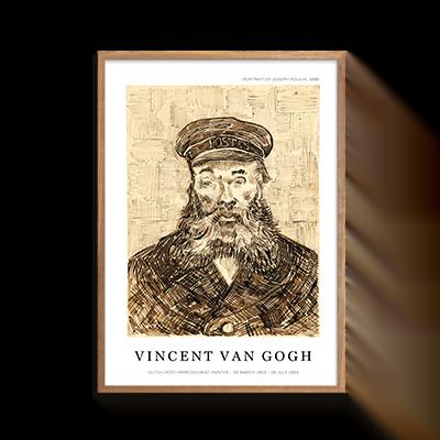 Portrait of Joseph Roulin Plakat