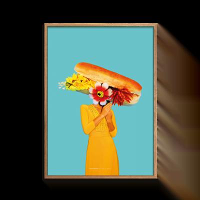 Plakat med hotdog