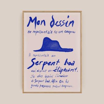 Le Petit Prince Blue Plakat